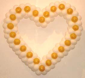 Сердце из шаров (150*150 см)