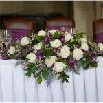 Цветочная композиция на свадебный стол