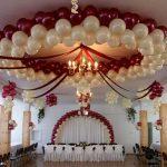 Композиции из шаров для оформления свадебного зала